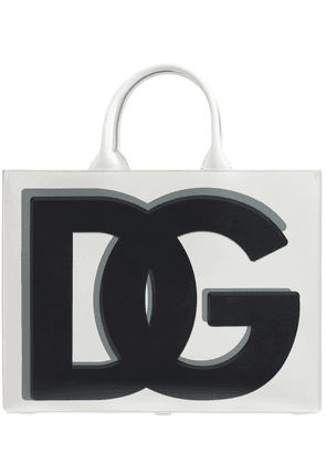 Dg Daily Print Leather Tote Bag