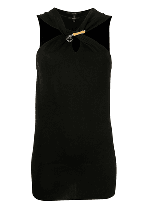 Gucci twisted front blouse - Black