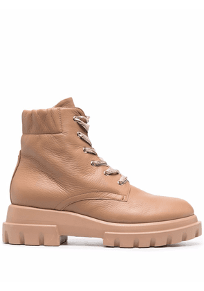 AGL lace-up ankle boots - Neutrals