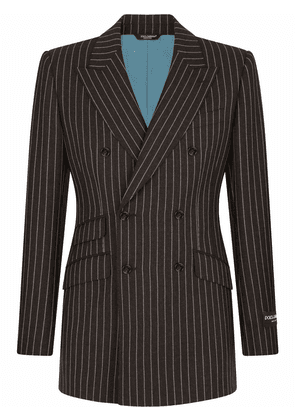 Dolce & Gabbana double-breasted pinstripe jacket - Grey