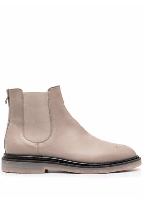 AGL perforated Chelsea boots - Neutrals