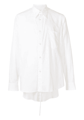 Bed J.W. Ford layered-detail cotton shirt - White