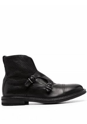 Fratelli Rossetti buckle-strap ankle boots - Black