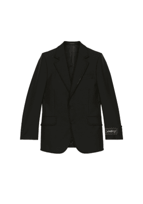 Mohair wool tailored jacket