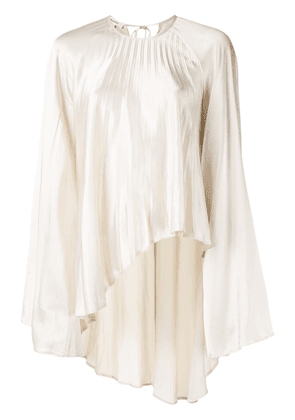 Beaufille pleated longline blouse - White