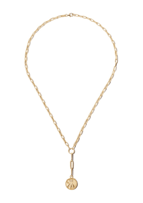 Foundrae 18K yellow gold Mind Body Soul charm necklace