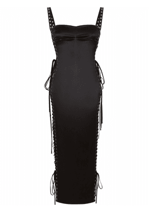 Dolce & Gabbana side lace-up detail fitted dress - Black