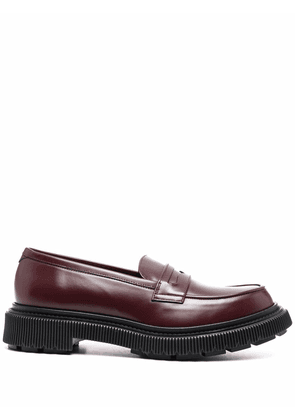 Adieu Paris penny-slot leather loafers - Red