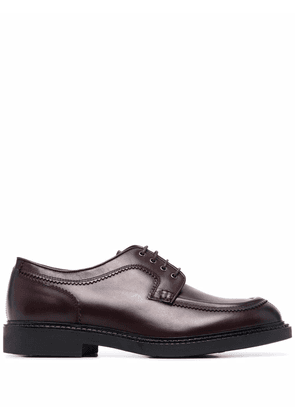 Fratelli Rossetti lace-up leather derby shoes - Red