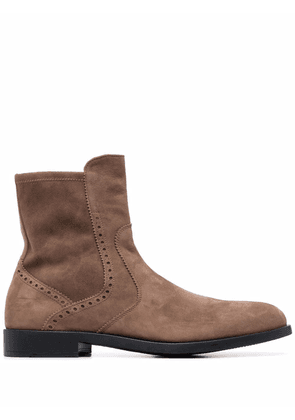 Fratelli Rossetti round-toe ankle boots - Brown