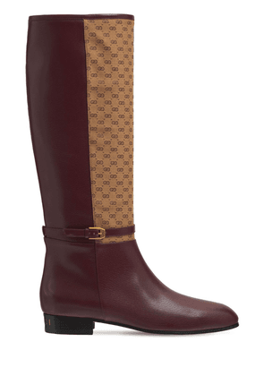 20mm Finn Tall Leather & Canvas Boots