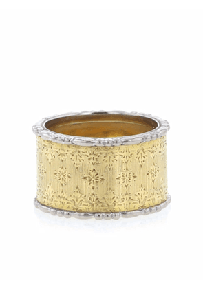 Buccellati 2010s pre-owned 18kt gold two-tone band ring