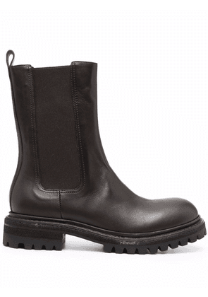 Del Carlo chunky leather boots - Brown