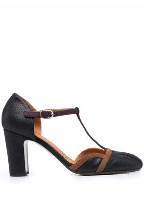 Chie Mihara Wander panelled leather pumps - Black
