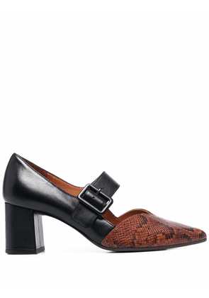 Chie Mihara pointed-toe two-tone pumps - Brown