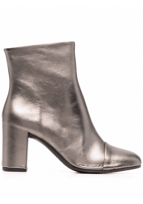 Del Carlo mirror-effect ankle boots - Gold