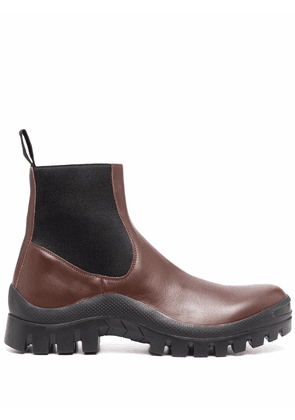 ATP Atelier ridged-sole ankle boots - Brown