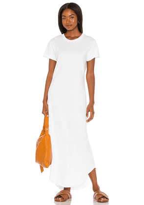 Frank & Eileen Perfect Tee Dress in White. Size XS, S, L.