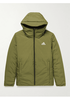 adidas Sport - Traveer COLD.RDY Recycled Shell Down Hooded Jacket - Men - Green - S
