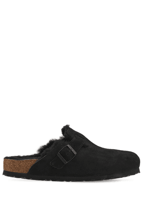Boston Shearling & Suede Leather Loafers