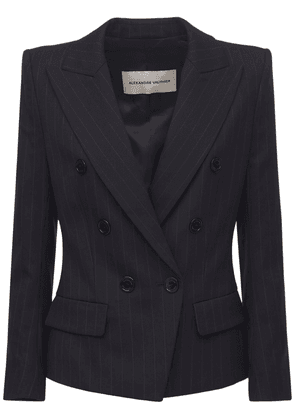 Fitted Pinstripe Wool Jacket