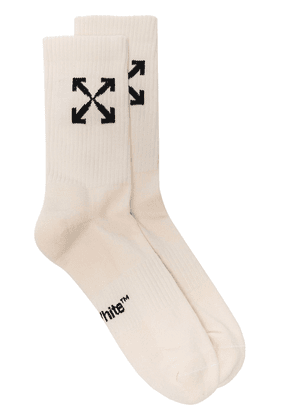 Off-White Arrows knitted socks - Neutrals