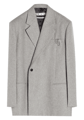Off-White paperclip double-breasted blazer - Grey