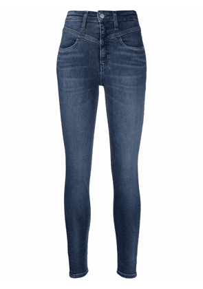 Calvin Klein Jeans high rise cropped skinny jeans - Blue