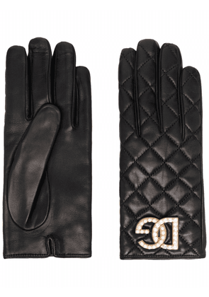 Dolce & Gabbana quilted leather gloves - Black