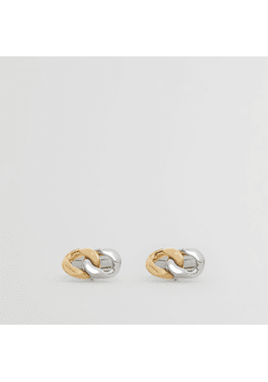Burberry Gold and Palladium-plated Chain-link Cufflinks