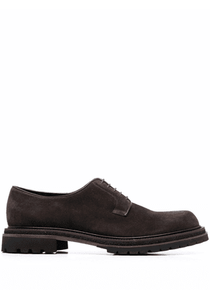 Fratelli Rossetti almond-toe suede lace-up shoes - Brown
