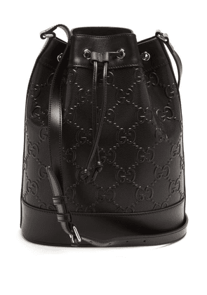 Gucci - GG-monogram Perforated-leather Cross-body Bag - Mens - Black