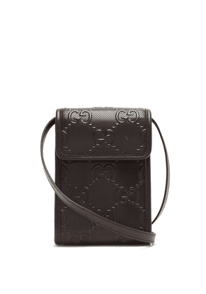 Gucci - GG-logo Quilted Leather Cross-body Bag - Mens - Black