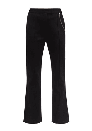 Givenchy - Chain-embellished Kick-flare Trousers - Womens - Black