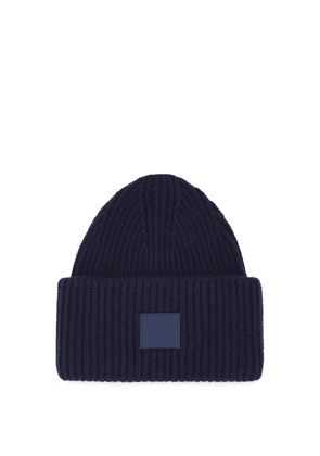 Acne Studios - Pansy Face-patch Wool Beanie Hat - Mens - Navy
