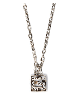 Gucci - G-motif Sterling-silver Necklace - Mens - Silver