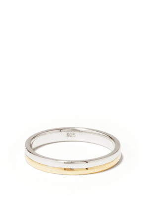 Miansai - Duo Sterling-silver & 14kt Gold-vermeil Ring - Mens - Silver Gold