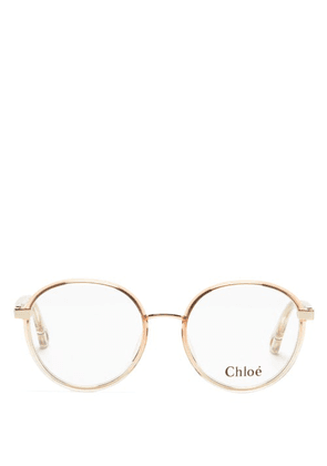 Chloé - Round Acetate Glasses - Womens - Pink