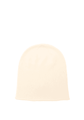Johnstons Of Elgin - Rolled-brim Cashmere Beanie Hat - Womens - White
