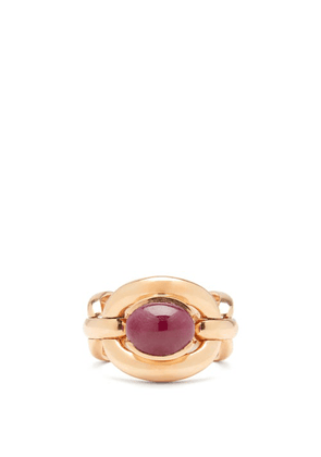 Nadine Aysoy - Catena Ruby & 18kt Rose-gold Ring - Womens - Red Gold