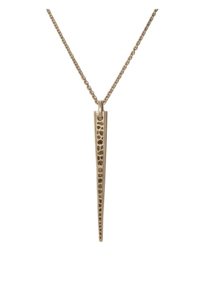 Parts Of Four - Big Spike Diamond & Sterling-silver Necklace - Mens - Silver