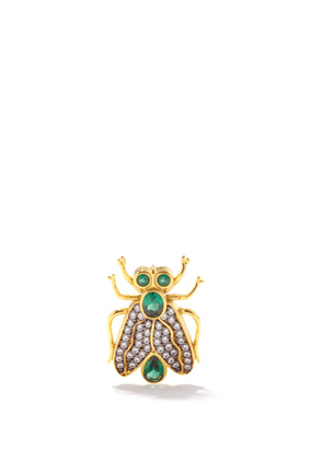 Begum Khan - Mosquito 24kt Gold-plated Single Stud Earring - Womens - Multi