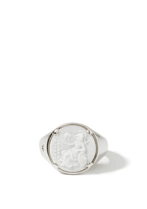 Tom Wood - Athena Cameo Rhodium-plated Sterling-silver Ring - Mens - Silver