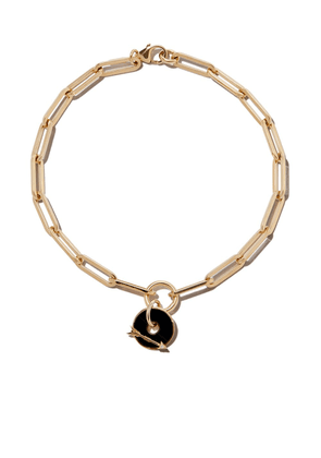 Foundrae 18kt yellow gold Classic FOB Clip Chain bracelet