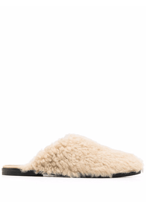 ATP Atelier shearling slip-on mules - Neutrals