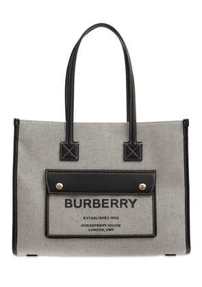 Small Freya Leather & Canvas Tote Bag