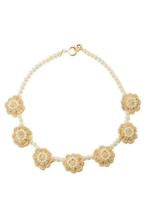 Shrimps - Areta Rope And Faux-pearl Necklace - Womens - Cream