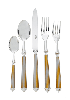 Alain Saint-Joanis - Lignes Silver and Gold-Plated Flatware Set  - Color: Gold - Material: SILVER & GOLD - Moda Operandi
