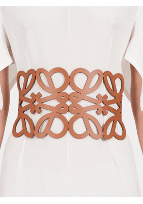 Anagram Cut Out Leather Belt