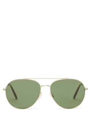 Oliver Peoples - Airdale Aviator Metal Sunglasses - Mens - Gold